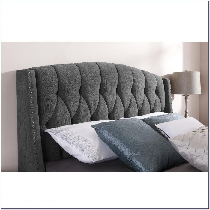 Grey Fabric King Size Headboard