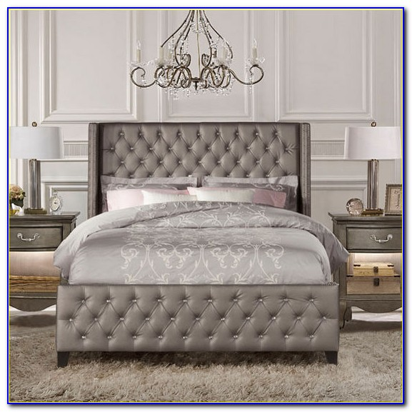 Grey Faux Leather King Size Headboard