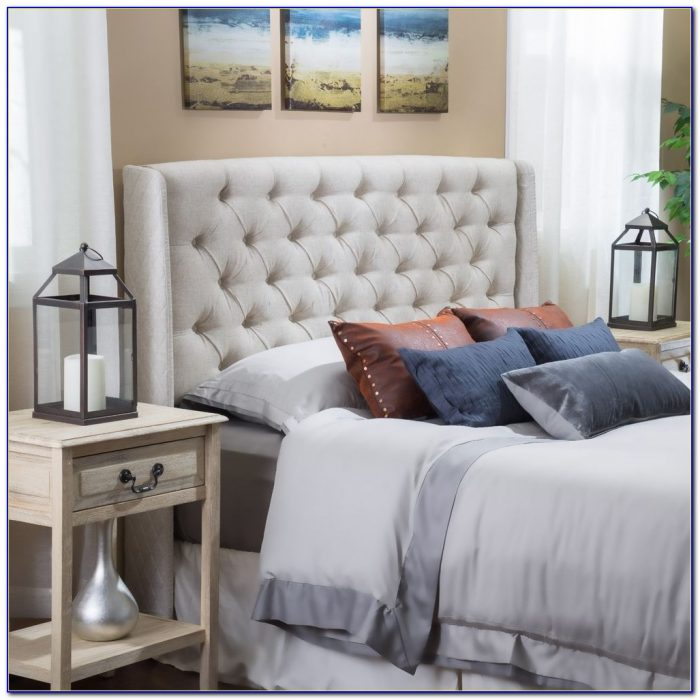 Grey Tufted Full Size Headboard