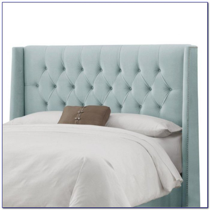 Grey Upholstered Headboard California King