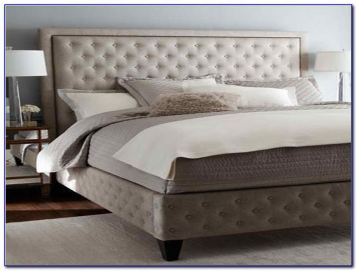 Grey Velvet King Size Headboard