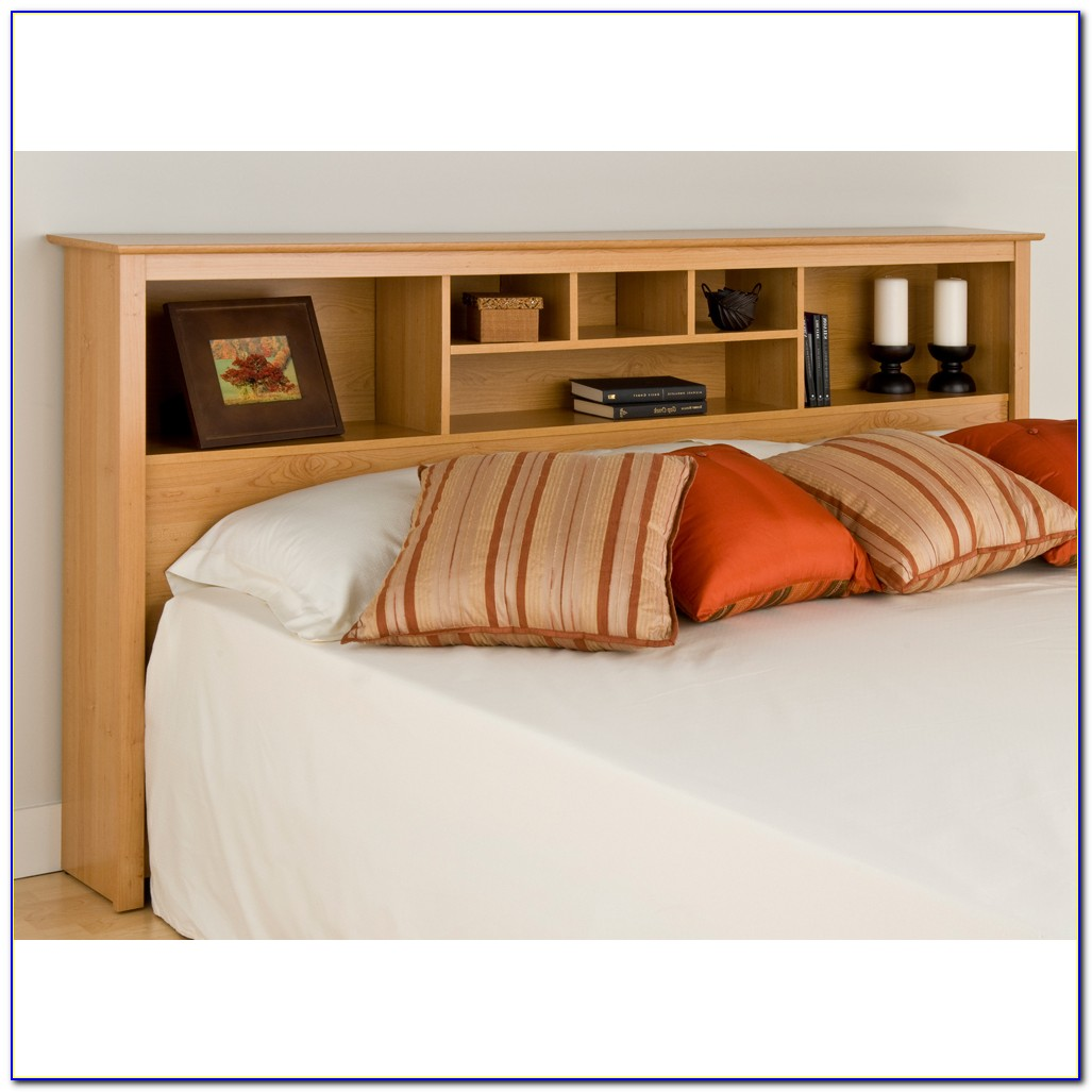 Headboard With Shelves King