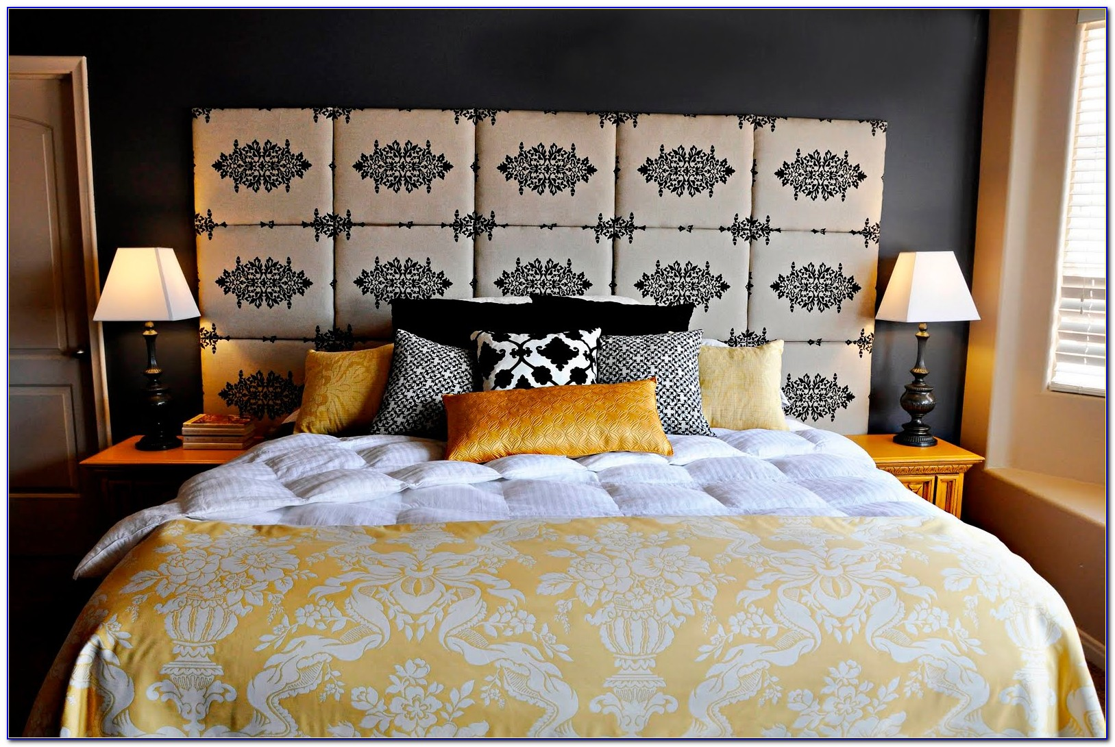 How To Make A Fabric Headboard With Nailheads