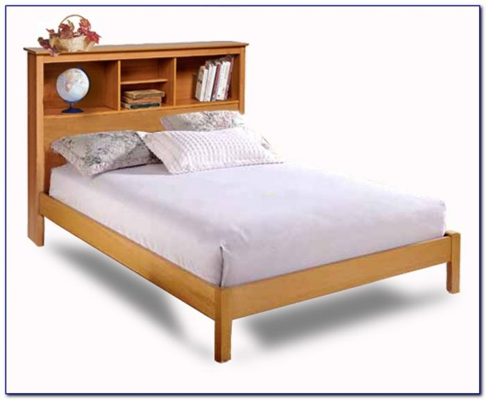 Ikea Bed With Bookshelf Headboard