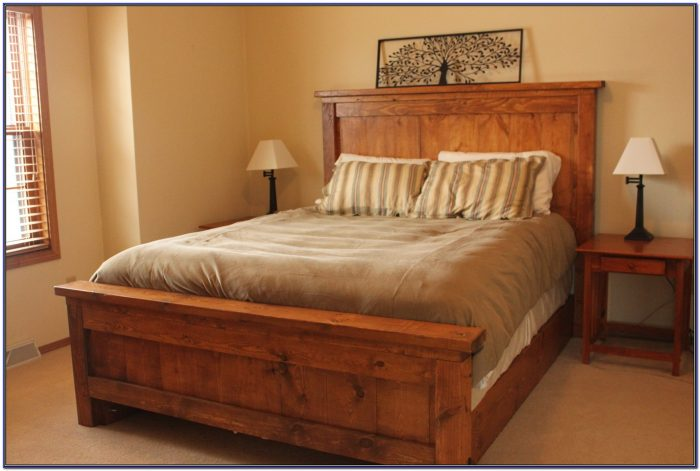 King Size Bed Frame With Headboard Near Me