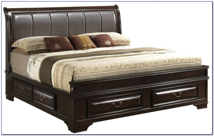 King Size Frame And Headboard
