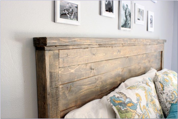 King Size Headboard Wood And Metal