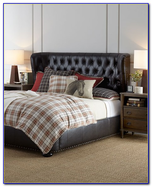 King Size Leather Tufted Headboard