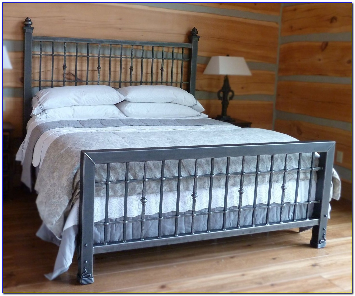 King Size Metal And Wood Headboards