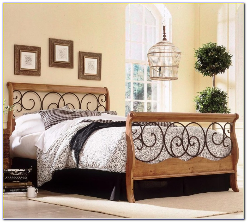 King Size Metal Headboard White