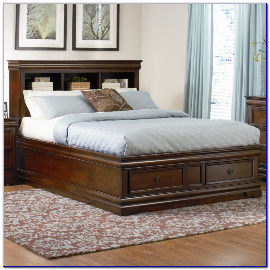 King Size Platform Bed With Headboard Storage