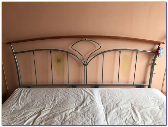 King Size White Metal Headboards