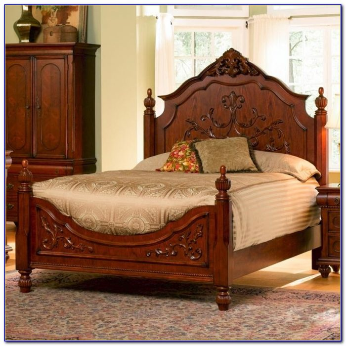 King Size Wooden Headboard And Footboard