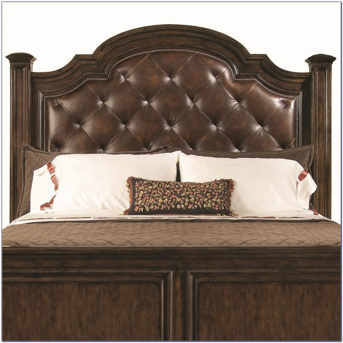 Leather Tufted Headboard King