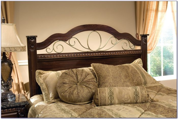 Metal And Wood King Headboards