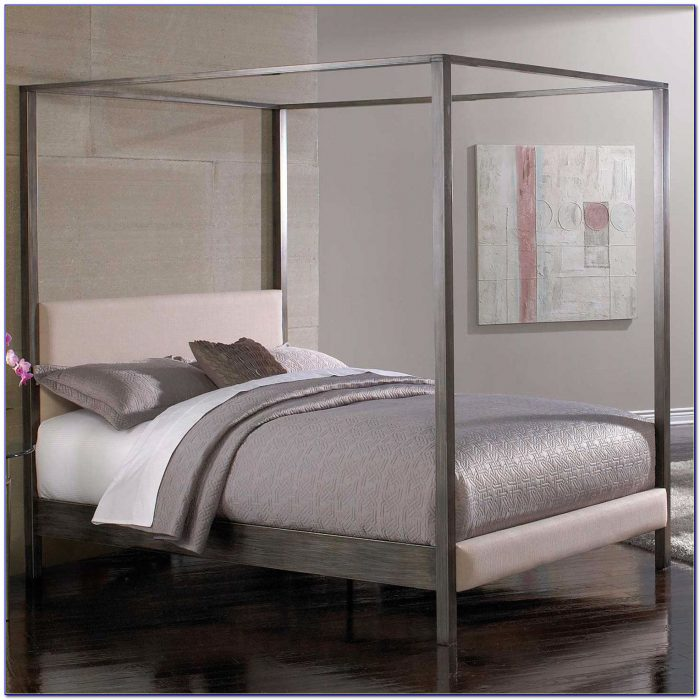 Metal Bed Frame With Headboard And Footboard Attachments