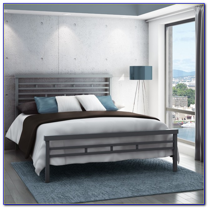 Metal Queen Poster Bed Headboard And Footboard