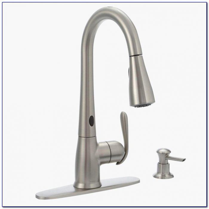 Stainless Steel Kitchen Faucet With Pull Down Spray New Moen Haysfield Single Handle Pull Down Sprayer Touchless Kitchen