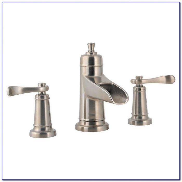 Nickel Brushed Wall Mount Waterfall Bathroom Sink Faucet