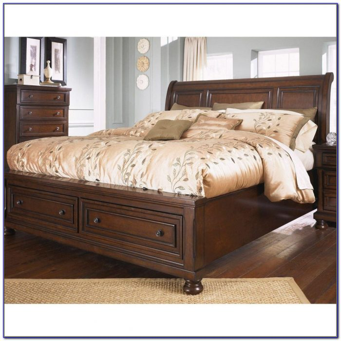 Oak King Size Headboard And Footboard