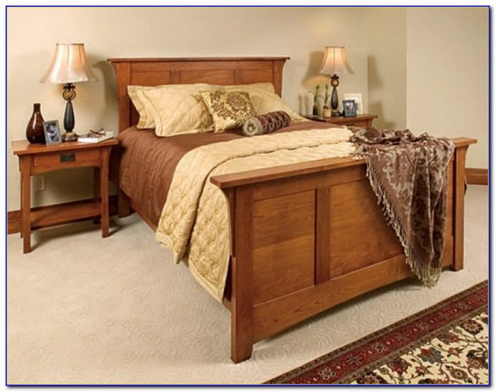Mission Style Wood Slat Queen Sized Bedframe Vintage Headboards Mission Style Headboard