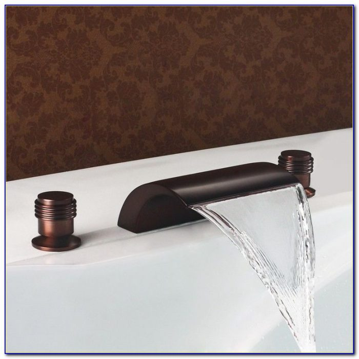 Oil Rubbed Bronze Waterfall Tub Filler
