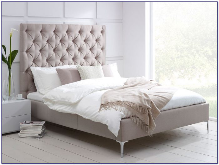 Platform Bed With Cushioned Headboard