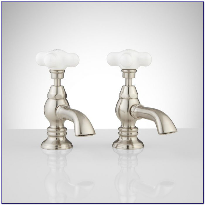 Porcelain Cross Handle Shower Faucets