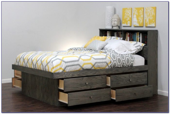Queen Bed Frame With Headboard And Storage