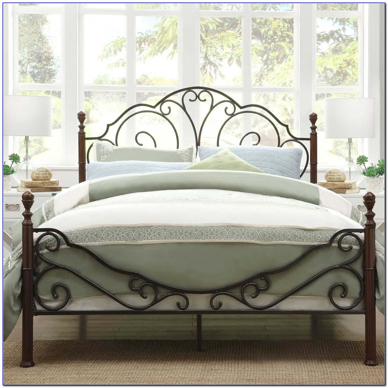 Queen Bed Rails For Headboard And Footboard