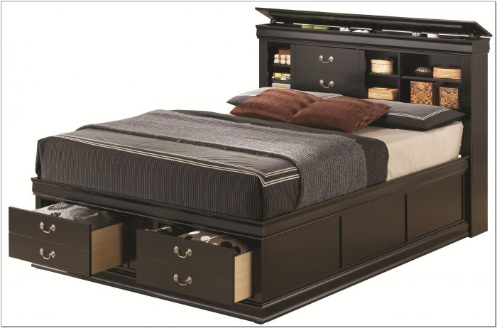 Queen Beds With Headboard Storage