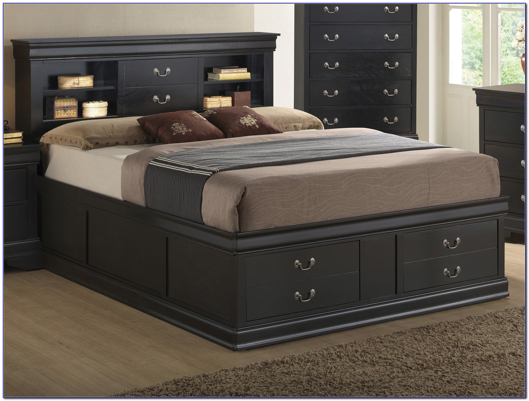 Queen Size Headboards With Storage