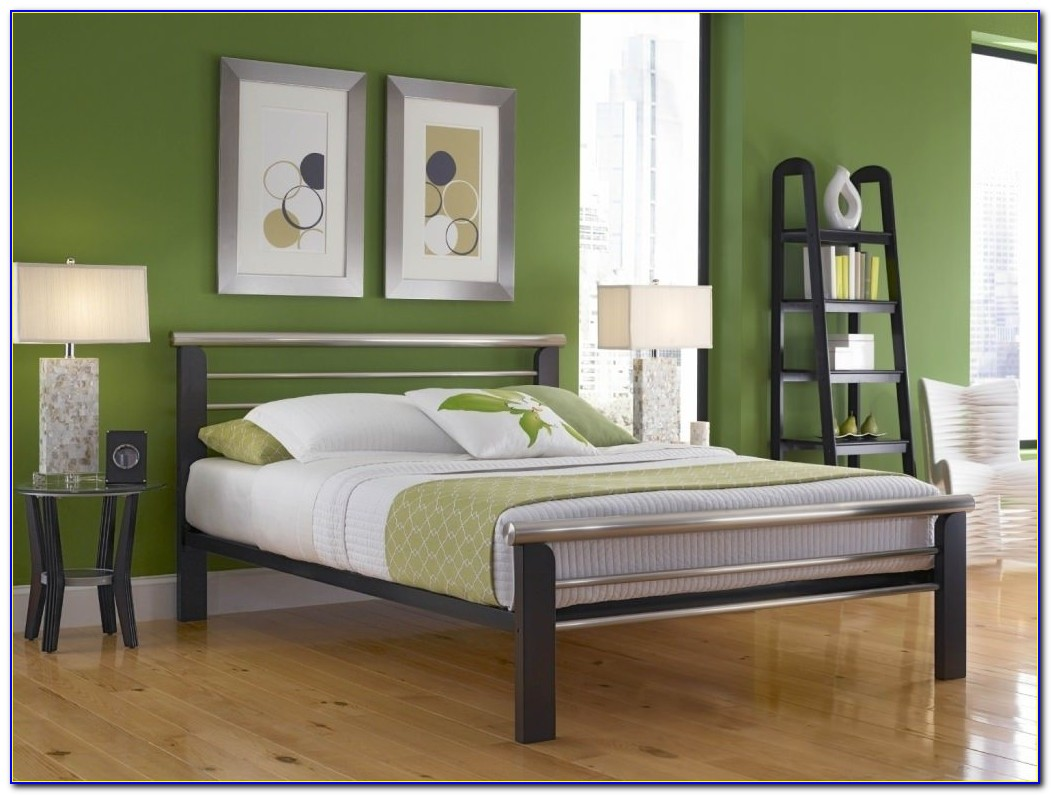 Queen Size Metal Bed Frame Brackets Headboard Footboard