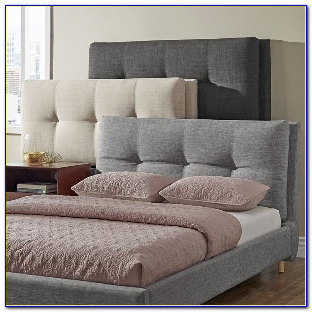 Queen Size Upholstered Wingback Headboard