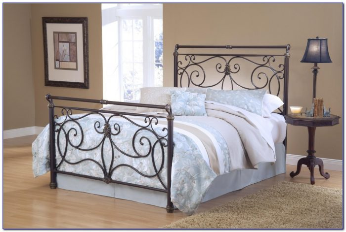 Queen White Wrought Iron Headboard