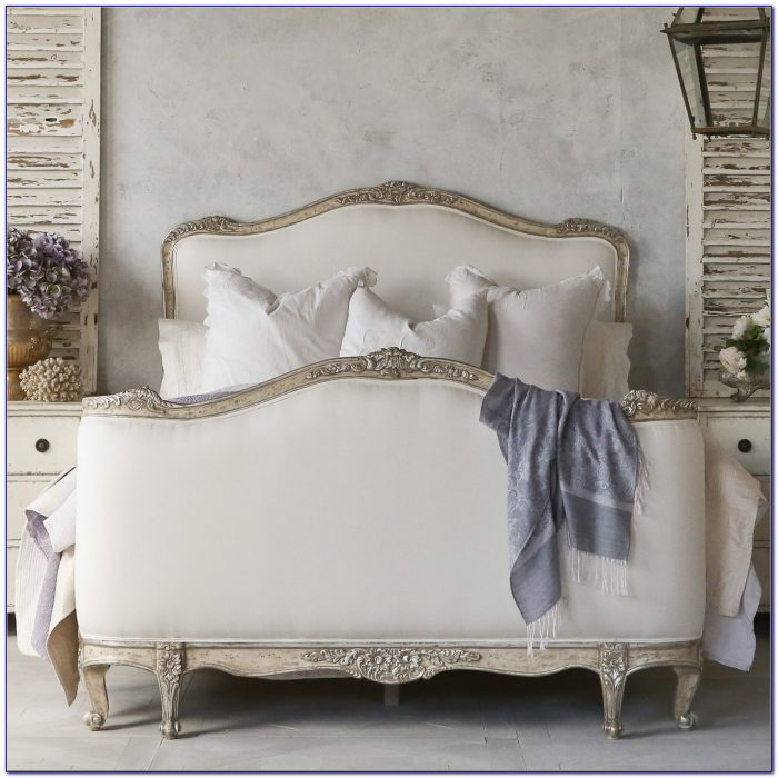 Rustic Wood And Fabric Headboard