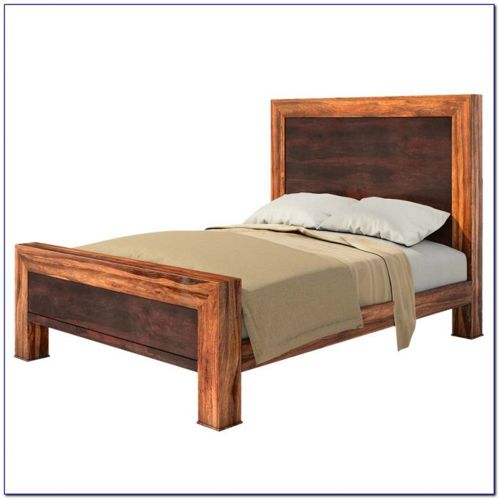 Solid Wood Bed Frame And Headboard