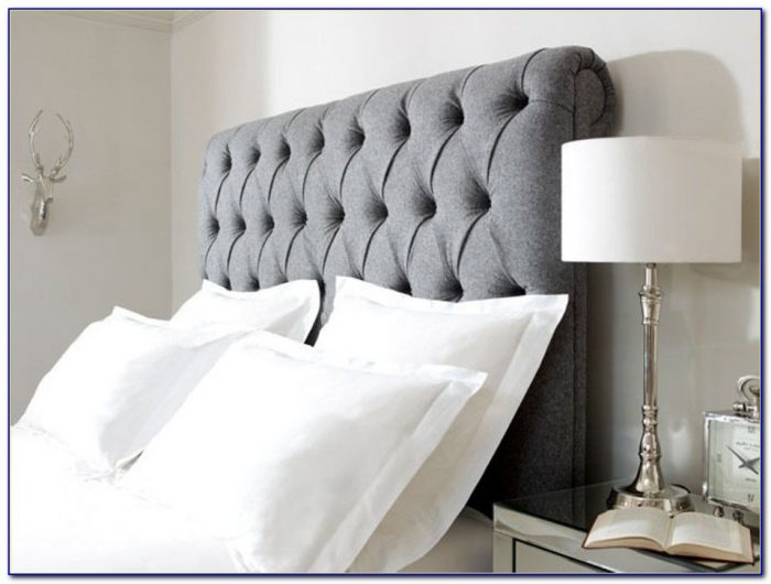 Super King Upholstered Grey Headboard