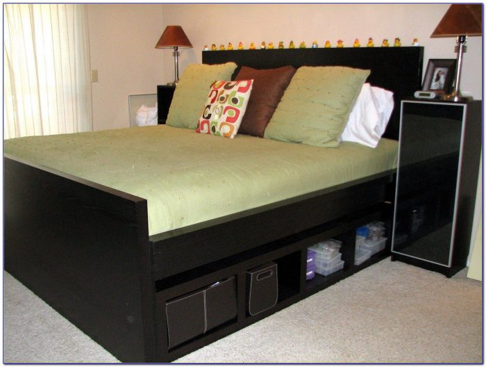 Twin Bed With Storage And Bookshelf Headboard