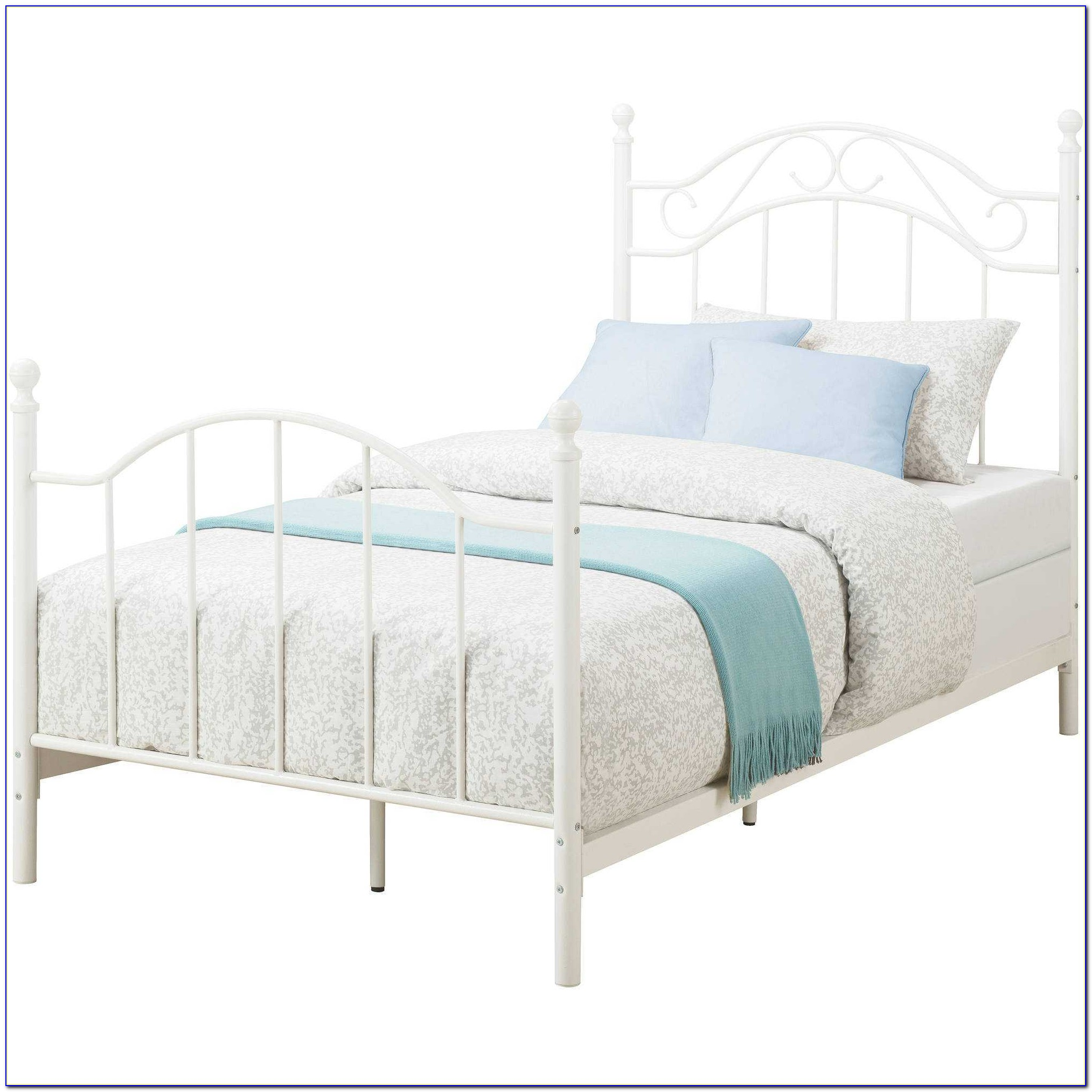 Twin Metal Bed Frame For Headboard And Footboard