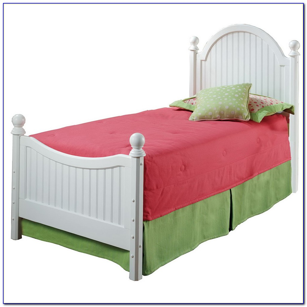 White Twin Headboard And Footboard