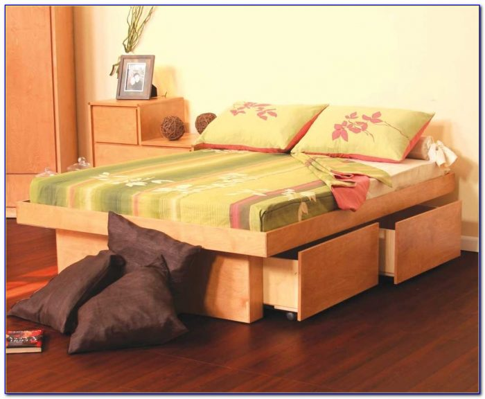Twin Size Bed With Storage And Headboard
