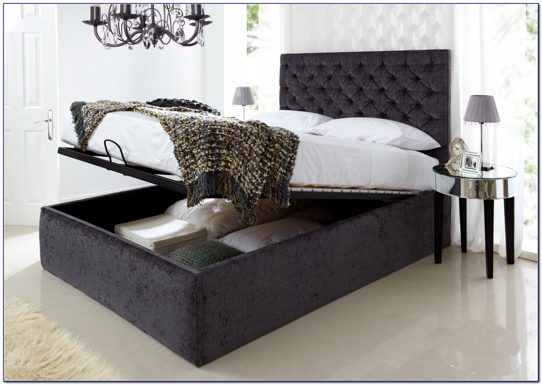Bedding Minimalist Twin Storage Bed With Headboard Twin Storage