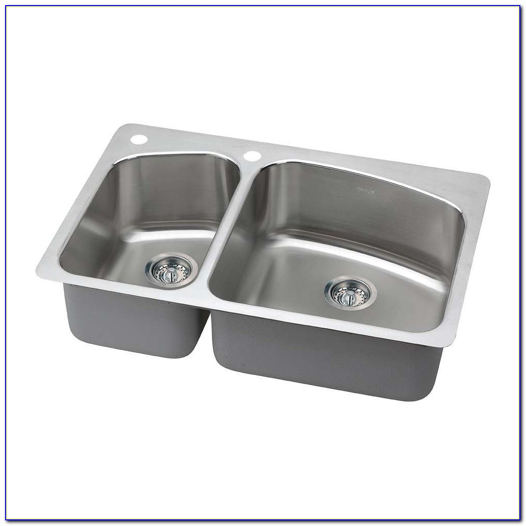 Undermount Bath Sink With Faucet Holes