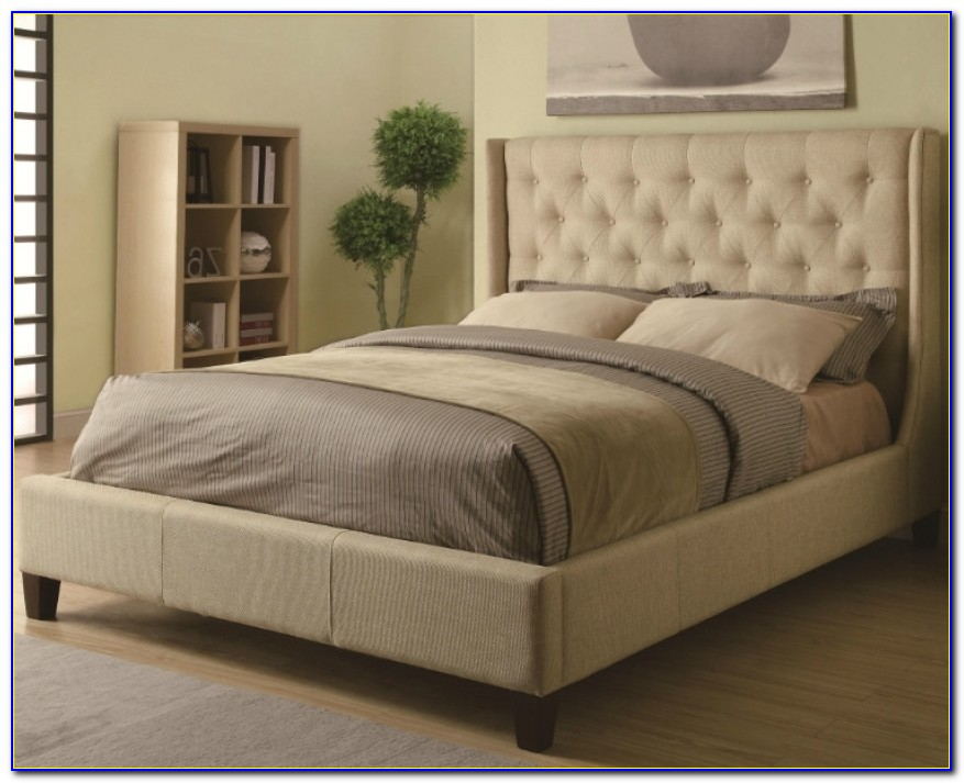 Upholstered Beds Upholstered King Bed With Tall Tufted Headboard Tufted King Headboard