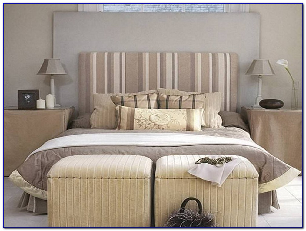 Upholstered King Size Headboard And Footboard