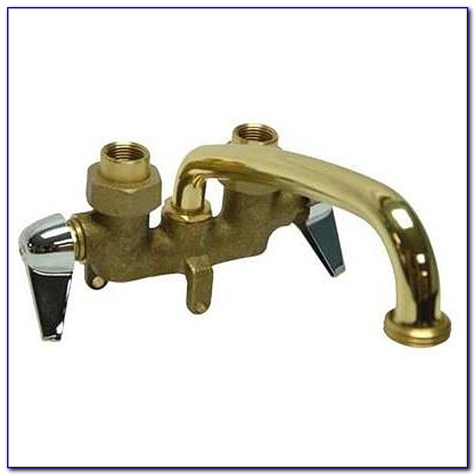 Wall Mount Laundry Faucet With Spray