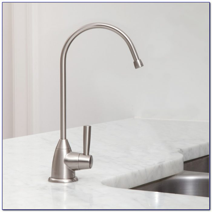 Water Filter Faucet Brushed Nickel