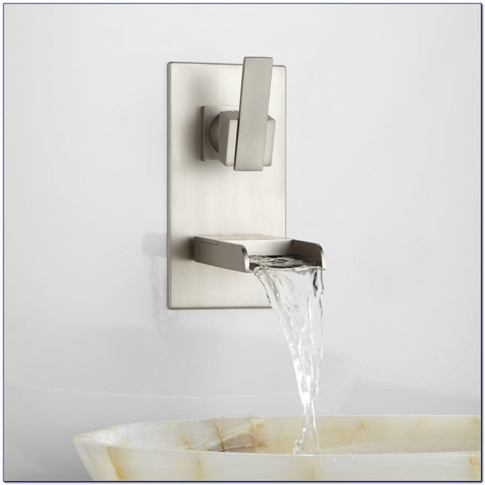 Waterfall Wall Mount Bathroom Faucet