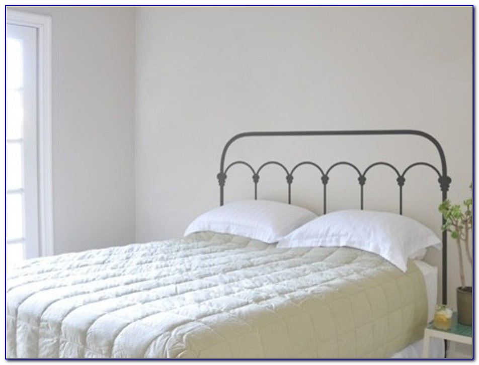 White Full Size Metal Headboards